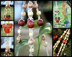 Boho-Chic Handmade Natural Hemp Macrame Plant Hanger Hanging