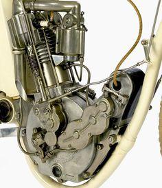 1914 Indian Model F Board Track Racer (Engine Detail)