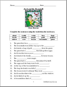 ... tale world on Pinterest | Fairy tales, Comprehension and Worksheets