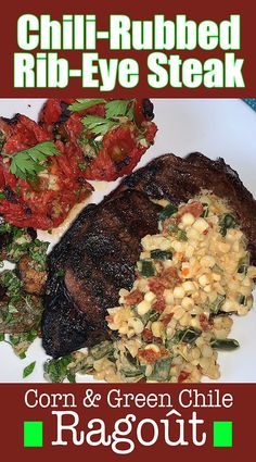 Dry-brined spice-rubbed steaks get a nice kick from a poblano pepper.