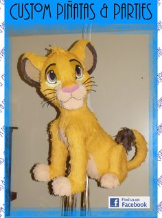 Lion Cub Pinata. Modeled after Simba from Lion King.