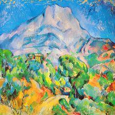 """""""La Montagne St. Victoire"""" - canvas print by Paul Cezanne"""