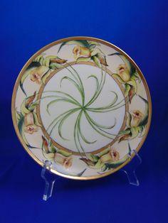 "Haviland Limoges Arts & Crafts Daffodil Motif Plate (Signed ""Minnie H. Cox""/c.1894-1931)"