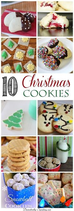 10 Christmas Cookies you'll want to bake!