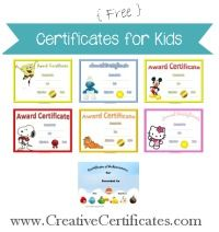 most of the kids certificate templates can be customized online before they are printed