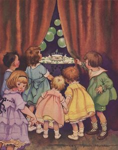 The Children's Party Book, by Marion Jane Parker; recipes by Helen Harrington Downing, and illustrations by Frances Tipton Hunter. Vintage Children's Books, Vintage Cards, Vintage Pictures, Vintage Images, Norman Rockwell, Vintage Birthday, Children's Book Illustration, Vintage Prints, Caricature