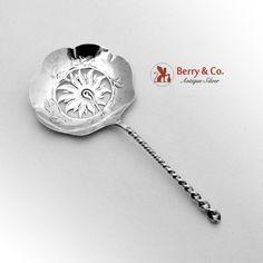 towle twist bon bon spoon cut work flower bowl sterling silver