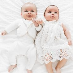 Updates from BabyBeauandBelle on Etsy Cute Baby Twins, Twin Baby Girls, Boy Girl Twins, Cute Little Baby, Baby Kind, Twin Babies, Girls Christening Dress, Baby Christening, Baby Girl Baptism