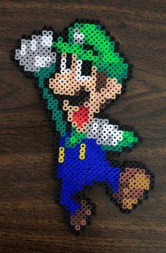 Luigi perler beads by PkmnMasterTash on deviantART