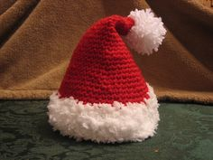 crochet santa hat - Tammy, I found you on pinterest so I could show you this adorable hat!!!  You have to make one for Sammy! :)