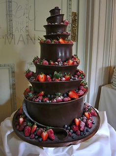 Chocolate Helter Skelter wedding cake.