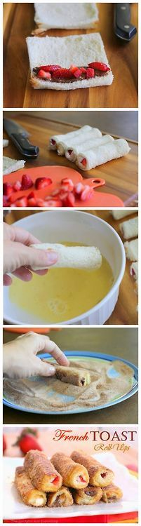 Might try this tmrw or nxt Sunday for brunch w/ my brothers-French toast roll ups