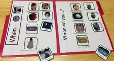 "When Questions Games - Help teach a child to answer ""when"" questions using these three games of varying difficulty level. Start with ""when"" questions that focus on things that happen during the day or at night. Then, move to ""when"" questions about things that happen in the winter vs. the summer. Finally, try a mixed collection of ""when"" questions that are more difficult and cover a variety of time concepts. Included instructions guide you through teaching this skill."