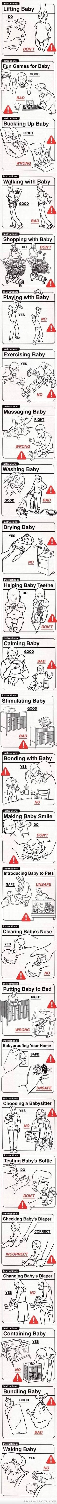 some helpful hints to new parents and babysitters :)
