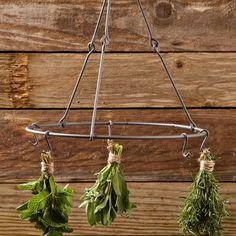 Herb Drying Rack - traditional - gardening tools - by Williams-Sonoma Herb Drying Racks, Drying Herbs, Herb Rack, Garden Supplies, Garden Tools, Organic Gardening, Gardening Tips, Esschert Design, Go Green