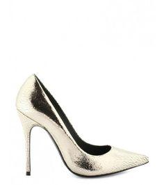 Aelia/crac #pumps #gold #Cosmoparis