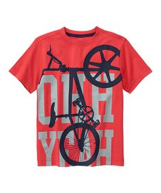 Look at this Gymboree Rococco Red 'Ohh Yeah' Bike Tee - Boys on #zulily today!