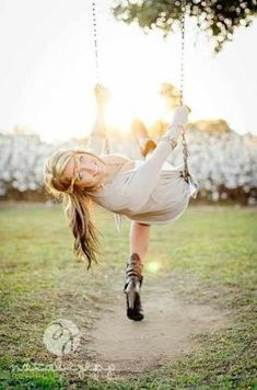 Swing senior picture ideas for girls. Senior picture ideas for girls on swings. #seniorpictureideas #swingseniorpictures #seniorpictureideasforgirls by Frances De Jager