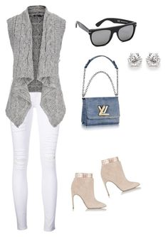 """""""Untitled #941"""" by abbey-ceee ❤ liked on Polyvore featuring GUESS, RetroSuperFuture, Sergio Rossi, Frame Denim and maurices"""