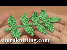 How to Crochet Leaf Branch Tutorial In todays tutorial I will be showing you how to crochet such a simple leaf branch. For crochet leaf branch you need : yarn : Cotton, . (which is US standard) or . Crochet Leaf Patterns, Crochet Leaves, Crochet Motif, Irish Crochet, Crochet Designs, Crochet Flowers, Crochet Hooks, Cotton Crochet, Crochet Appliques
