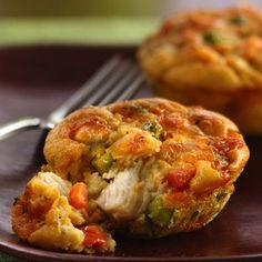 Impossibly Easy Mini Chicken Pot Pies…