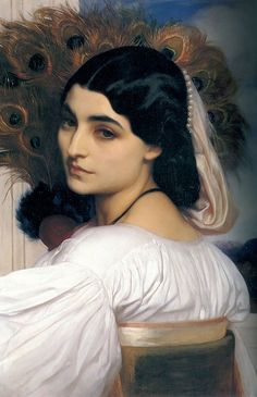 Pavonia Painting by Lord Frederick Leighton Reproduction Female Portrait, Portrait Art, Female Art, Baroque Painting, Woman Painting, Classic Paintings, Paintings I Love, Old Paintings, Renaissance Paintings