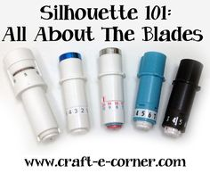 Silhouette All About the Blades - Self Adjusting, Black Ratchet Blade, Fabric Blade, Premium and Deep Cut Blades. PIN Now, READ Later! Silhouette Curio, Silhouette Cameo Vinyl, Silhouette School, Silhouette Cutter, Silhouette Machine, Silhouette Design, Silhouette America, Silhouette Files, Silouette Cameo Projects