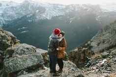 Epic rocky mountain destination engagement, w & e photography @haleycb3 This couple takes great engagement photos they are friends of my cousin these are epic and reminded me of what you have been pinning :)