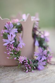 delicate purple wreath Magical Moments
