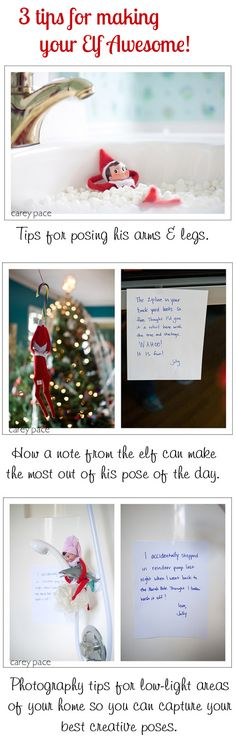 {Elf on the Shelf Ideas} 3 tips for hacking your elf and making the most out of this festive family fun from @Carey Pace on Peanut Blossom.