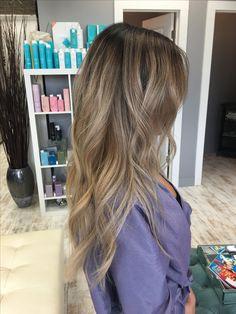 Blonde balayage on asian hair