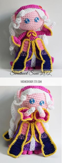 Sona Sweetheart League of Legends Chibi Plushie Amigurumi Stuffed Toy Doll Handmade Softies Gift Baby Crochet Knit Inspired Plush Characters #sona #sweetheartsona #sonalol #leagueoflegends #sonaleagueoflegends #sonaamigurumi #sonachibi #sonalolchibi #sonaplush #sonasweetheart #sonadoll #sonaplushie #giftforhim #giftforgamers