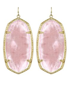 Kendra Scott Danielle Earrings in Rose Quartz 14 Gold Plated Press Celeb Fav Pink Kendra Scott Danielle Earrings, Kendra Scott Jewelry, Gold Statement Earrings, Rose Earrings, Jewelry Accessories, Jewelry Ideas, Quartz, Jewels, Glitters