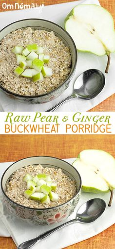 Raw Pear & Ginger Buckwheat Porridge @OmNomAlly