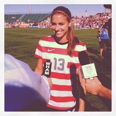 Alex Morgan after Team USA's victory overe Costa Rica, Sept. 1, 2012. (@alexmorgan13/Twitter)