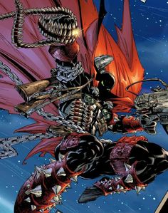 Spawn by Greg Capullo Comic Book Artists, Comic Artist, Comic Books, Deadpool, Spawn Comics, Savage Dragon, Black Anime Characters, Dark Pictures, Horror Icons