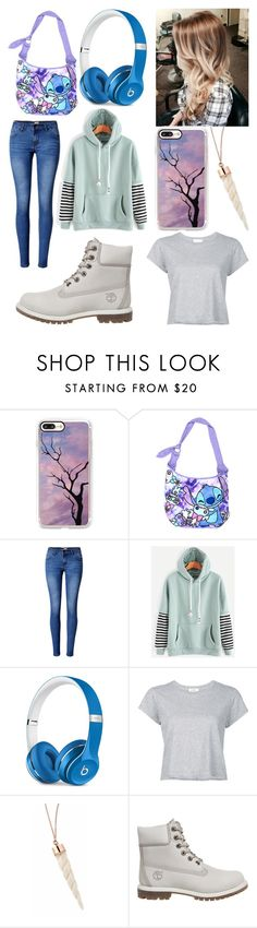 """""""Untitled #328"""" by rainy-kat on Polyvore featuring Casetify, Disney, WithChic, Beats by Dr. Dre, RE/DONE and Timberland"""