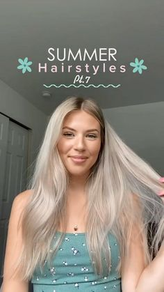 Easy Hairstyles For Long Hair, Curly Hair Tips, Teen Hairstyles, My Hairstyle, Summer Hairstyles, Hair Dos, Pretty Hairstyles, Curly Hair Styles, Hair Upstyles