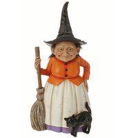 resin Halloween witch figure, RAZ h3509310