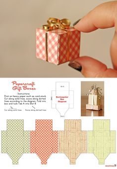 Tiny Gift Box - free template from The Dapper Toad  i used these for a diy xmas cloche jar display. Perfect!