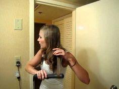 Hair tutorial--curling with straightner