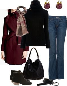 """""""Burberry Coat"""" by pwhatilike ❤ liked on Polyvore"""