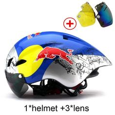 Cheap Price New Bicycle Helmet With Glasses 6 Colors Ultralight MTB Road Bike Helmet Adults Goggleses Casco Ciclismo Black Blue Cycling Helmet, Cycling Bikes, Bicycle Helmet, Bmx Helmets, Helmet Accessories, New Bicycle, Road Bike Women, Bicycle Maintenance, Waterfalls