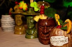 Tiki Mugs from one of the Best Tiki Bars in America