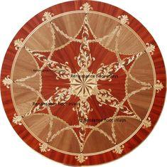 Custom wood floor medallion