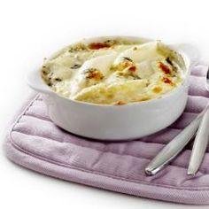 Details - Recept - Gegratineerde witte asperges met room en blauwe kaas - Jan Linders