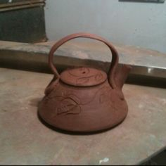 Teapot with handle added