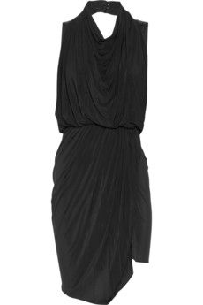 Beautiful black drape dress Jersey Dress #fashiondress #women #JerseyDress #Jersey #Dresses #anoukblokker