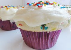 Recipe for Funfetti Cupcakes with a healthy twist