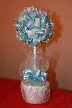 Ribbon Topiary Centerpiece